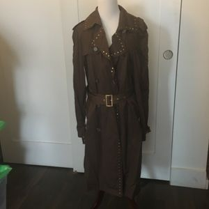 GEORGES RECH PARIS LIGHT BROWN TRENCH RAINCOAT